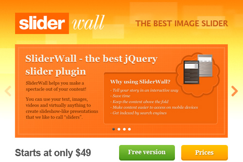 Sliderwall HTML5 header slider